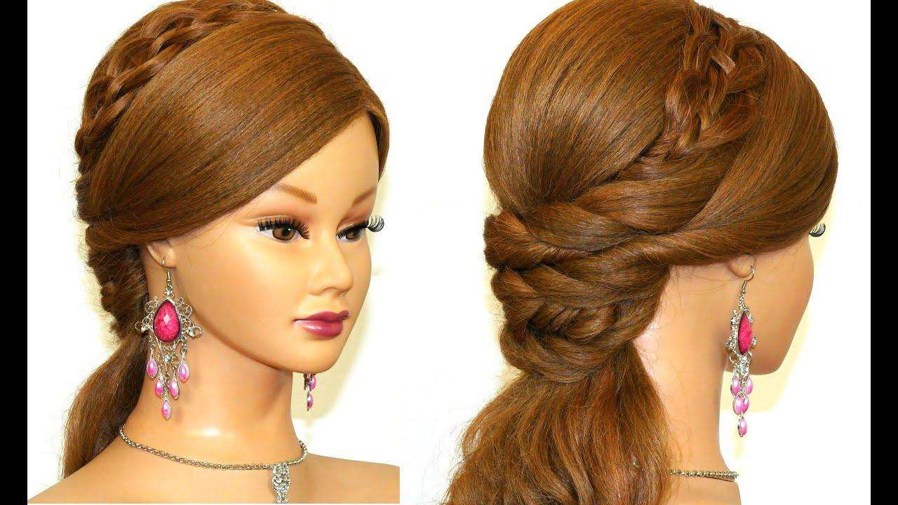 New Easy Prom Hairstyle For Long Hair Youtube Ideas With Pictures