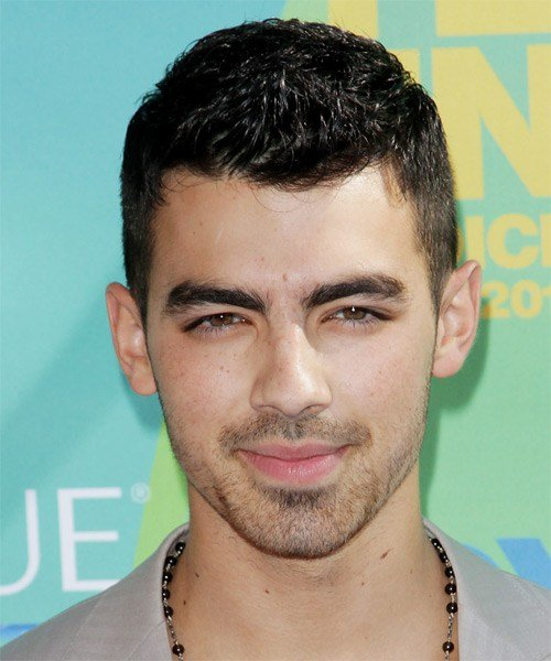 New Joe Jonas Short Straight Casual Hairstyle Mocha Hair Color Ideas With Pictures
