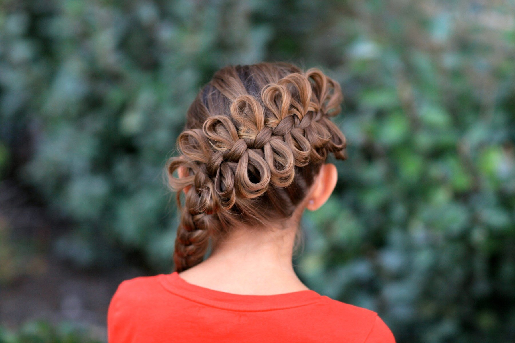 New Diagonal Bow Braid Popular Hairstyles Cute Girls Ideas With Pictures