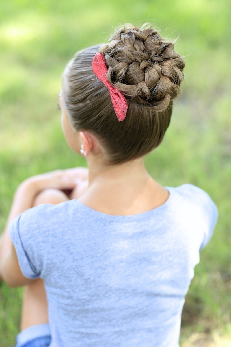 New Pancaked Bun Of Braids Updo Hairstyles Cute Girls Ideas With Pictures