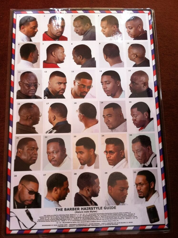 New 24 X 36 Barber Shop Poster Modern Hair Styles For African Ideas With Pictures Original 1024 x 768