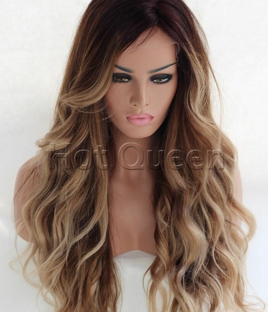 New 100 Brazilian Remy Human Hair Ombre Long Wavy Full Lace Ideas With Pictures