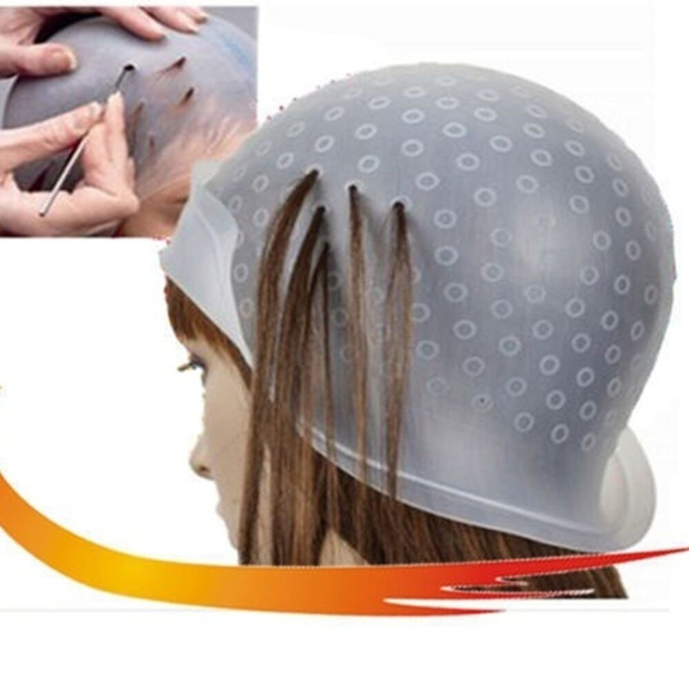 New Professional Reusable Hair Colouring Highlighting Dye Cap Hook Frosting Tipping Ebay Ideas With Pictures