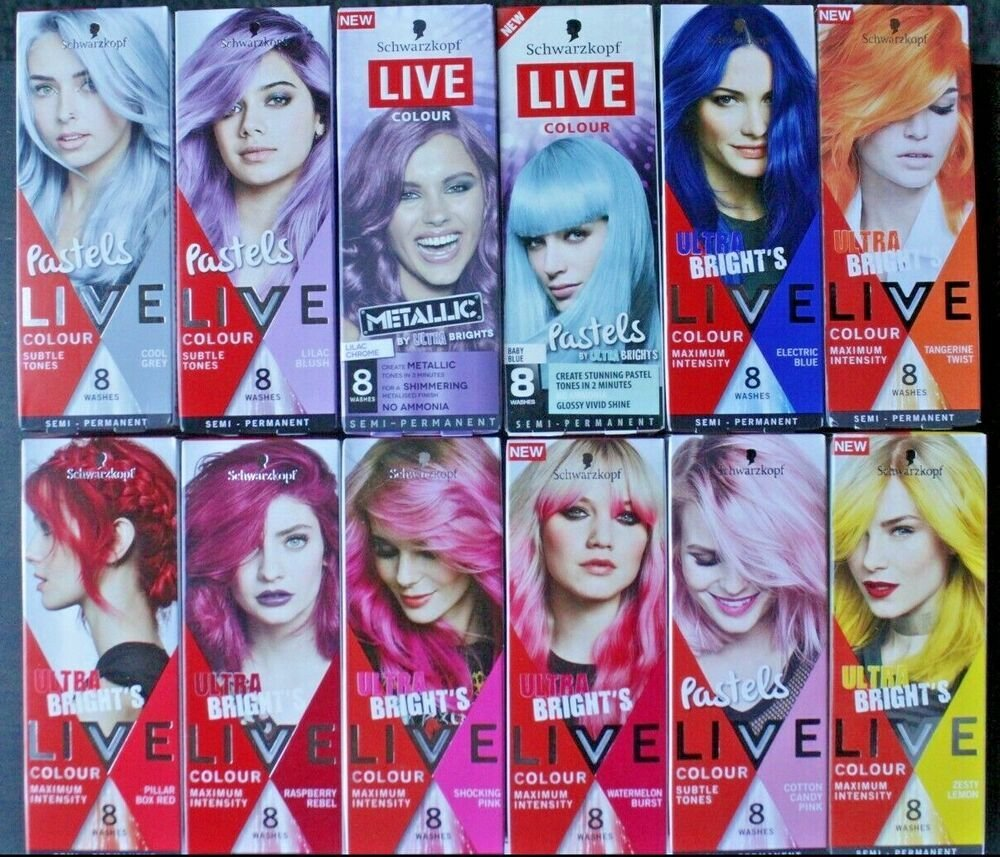 New Schwarzkopf Live Colour Ultra Brights Temporary Hair Dye Ideas With Pictures