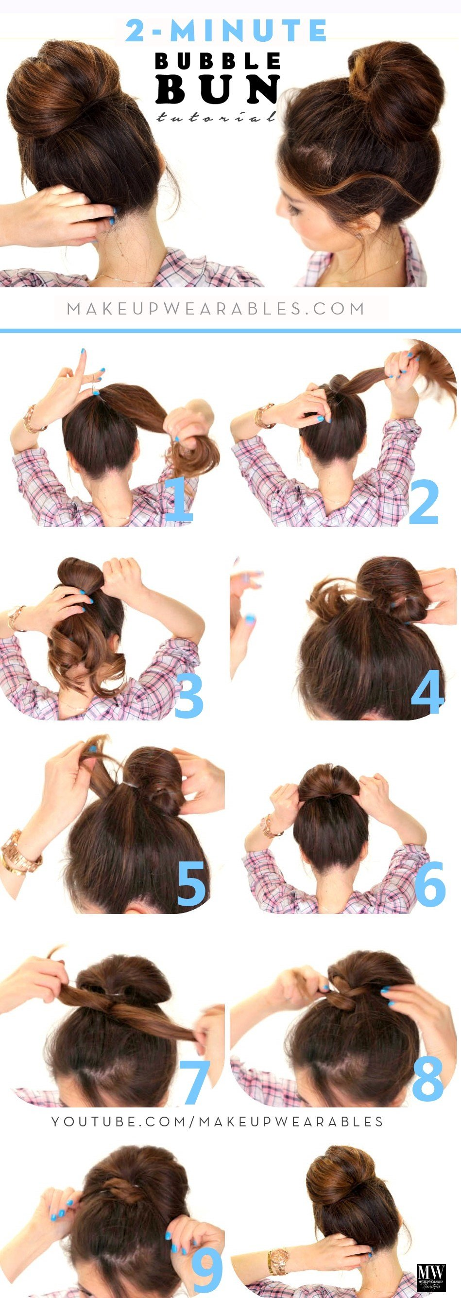 New How To Quick Easy Fan Bun Hairstyle For Medium Long Hair Ideas With Pictures