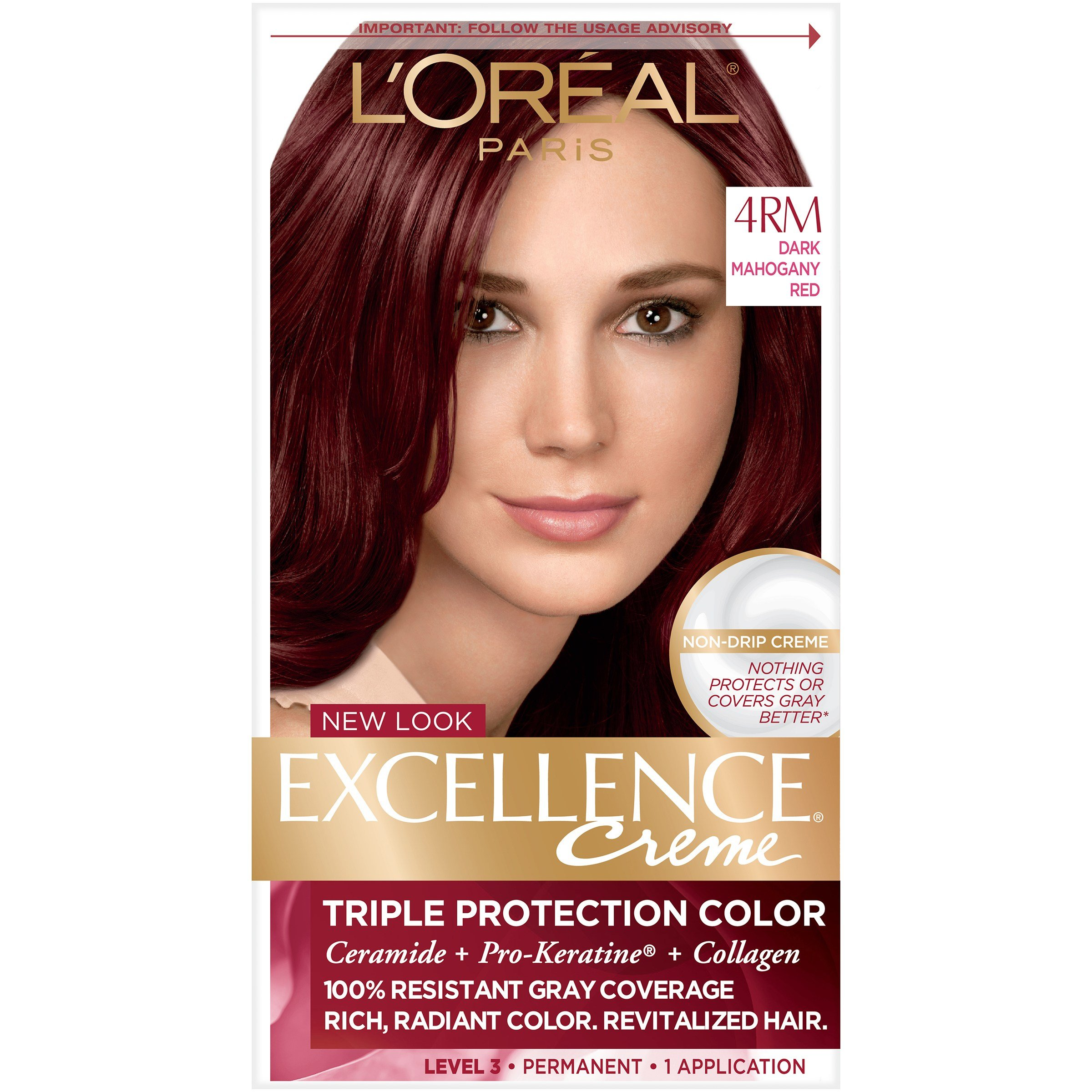 New L Oreal 4Rm Red Richesse Warmer Dark Mahogany Red Hair Ideas With Pictures