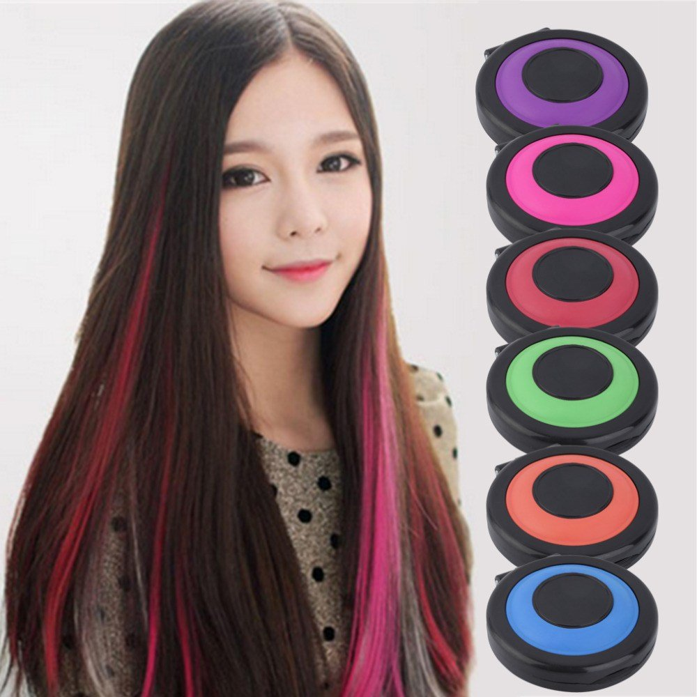 New Professional 6 Colors Temporary Hair Dye Powder Cake Ideas With Pictures