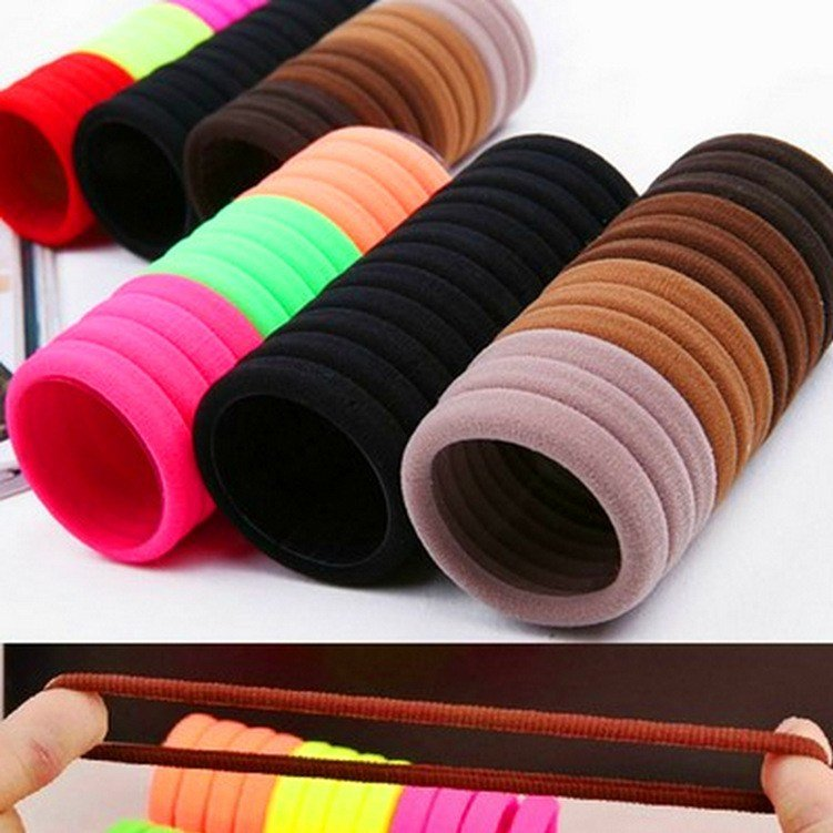New 10Pcs Lot Candy Colored Hair Holders High Quality Rubber Ideas With Pictures