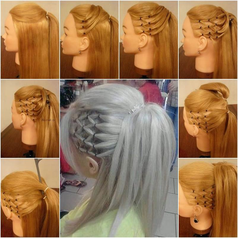 New How To Diy High Ponytail With Side Mesh Hairstyle Ideas With Pictures