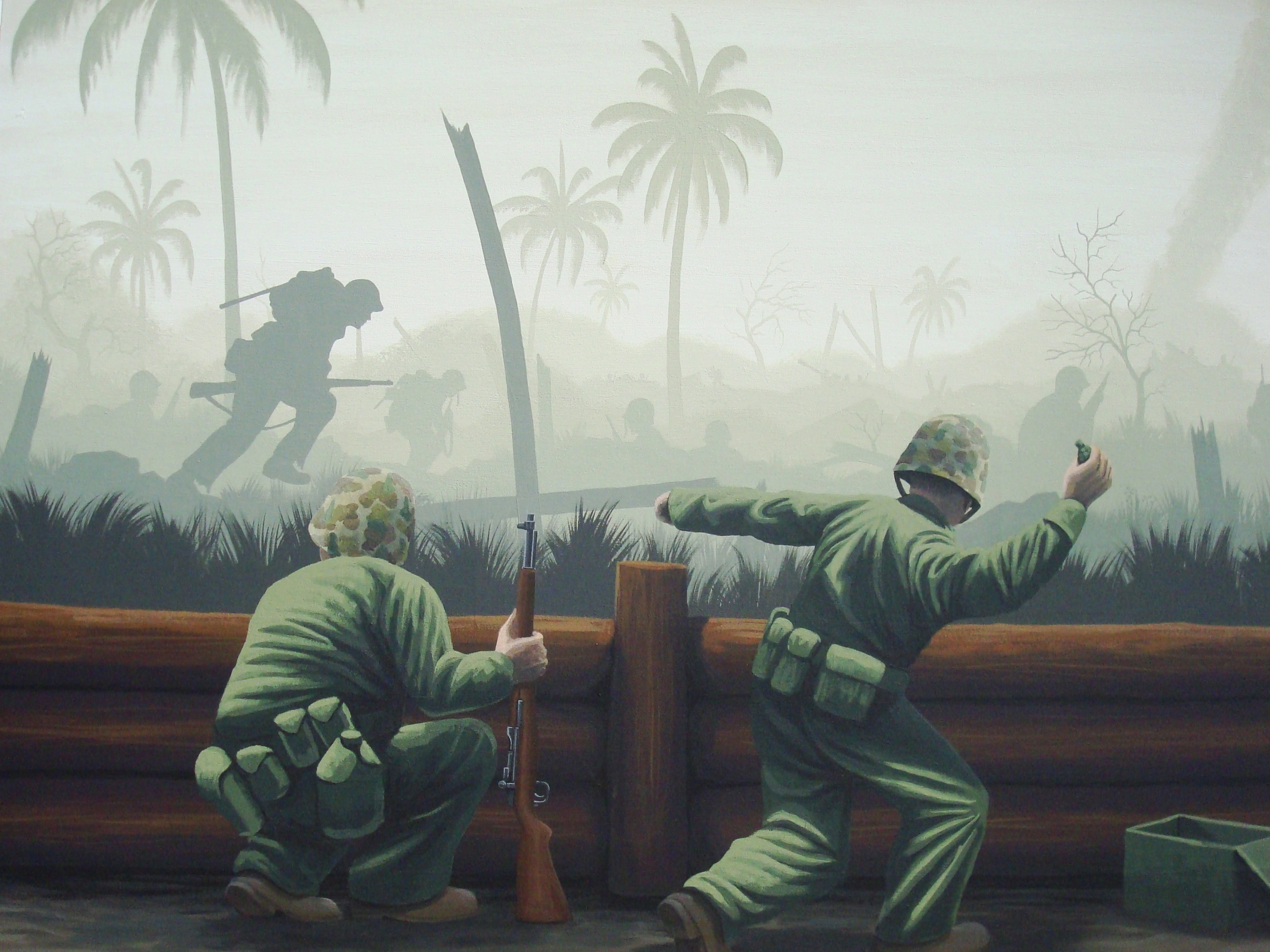 Pacific WWII Mural