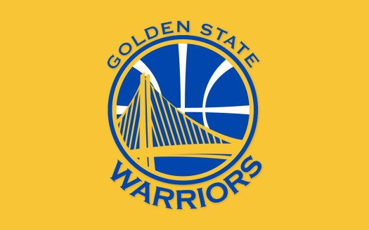 GOLDEN STATE WARRIORS Nba Basketball logo over yellow ...