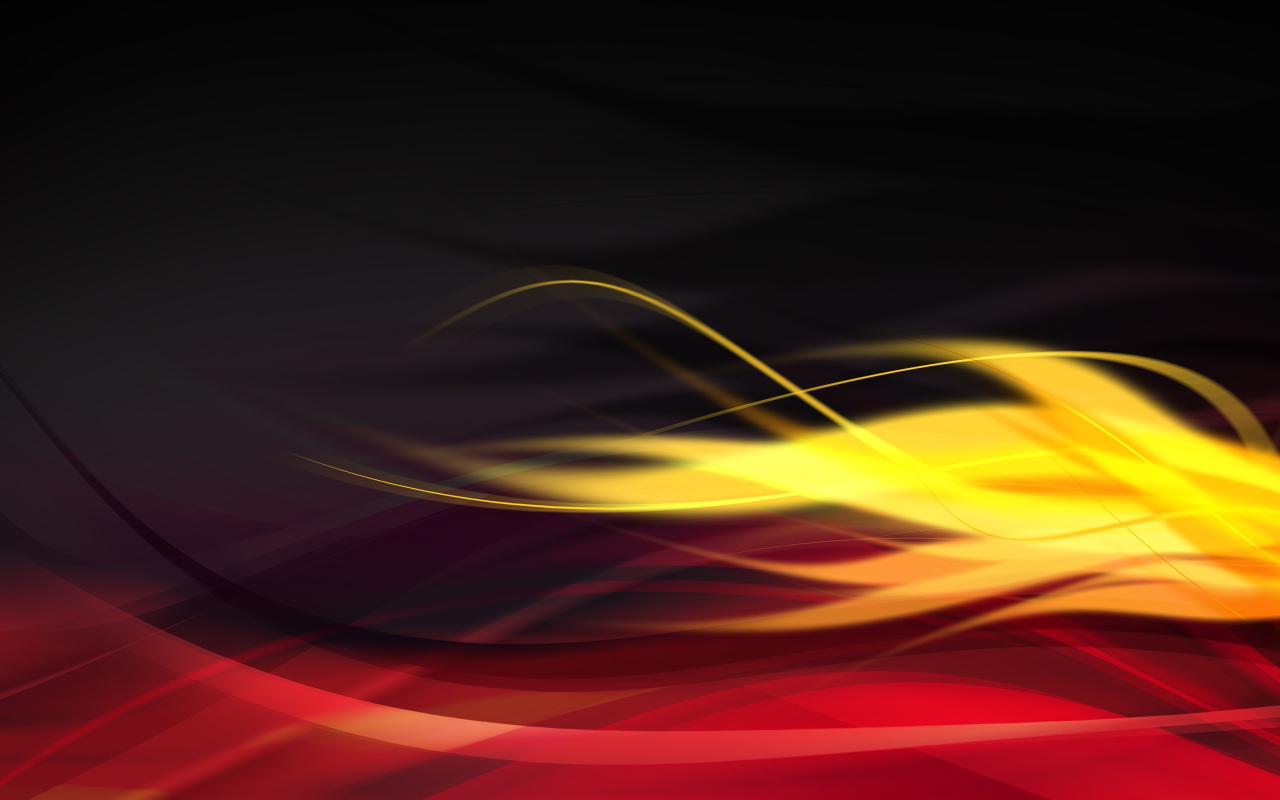 Abstract Graphic Design Wavy Lines Red Yellow