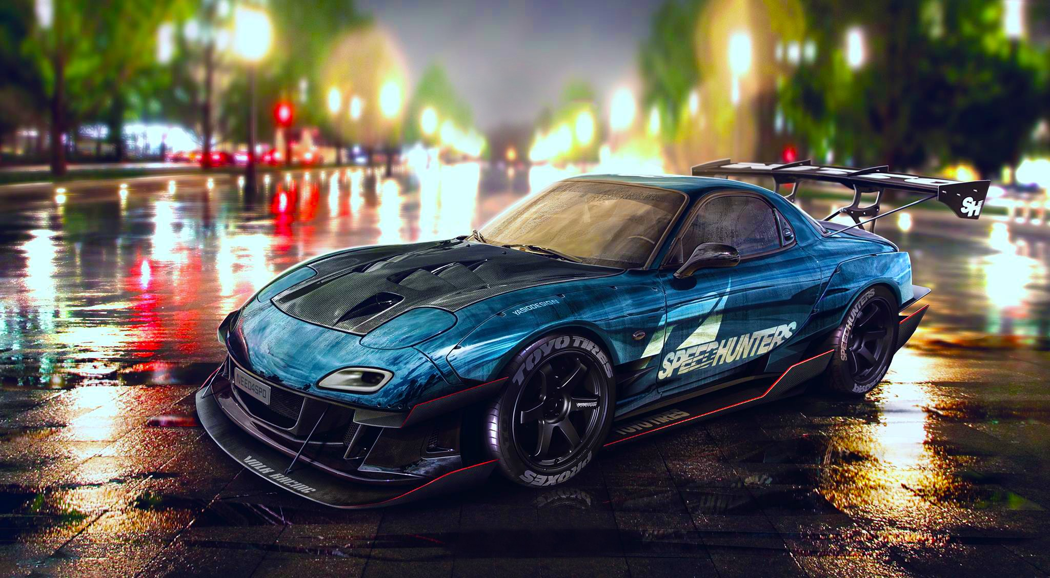 Car Mazda RX 7 Tuning Need For Speed Wallpapers HD