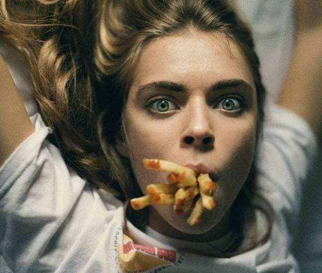 Fries Face Model Women Mouths Cara Delevingne Hd Wallpaper Desktop Background