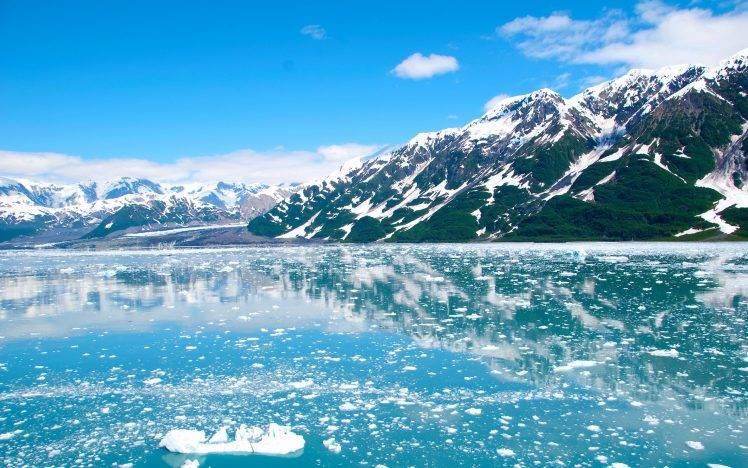 Nature Alaska Mountains Landscape Ice Wallpapers Hd Desktop