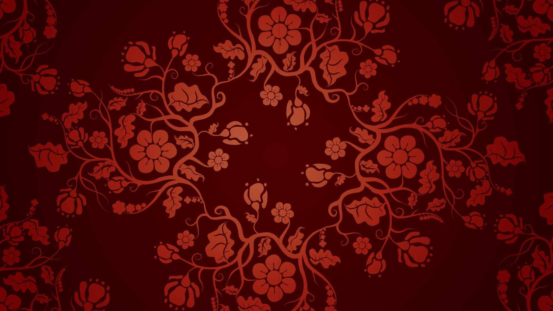 Fantasy Art Pattern Floral Red Wallpapers Hd Desktop And Mobile Backgrounds