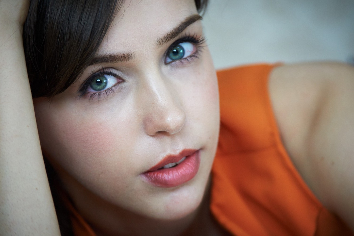 women, stefanie joosten, green eyes wallpapers hd / desktop and