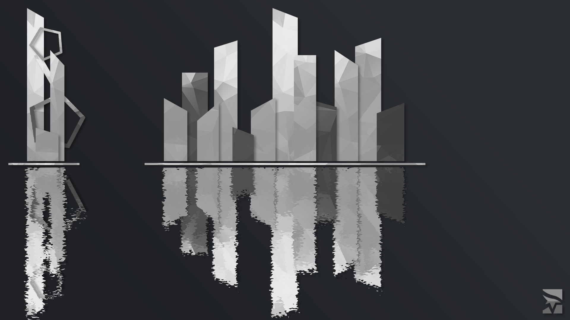Mirror Amp S Edge Reflection Geometry City Abstract White Black The Shard Wallpapers Hd