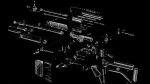 gun, Exploded view diagram, FN FAL Wallpapers HD  Desktop