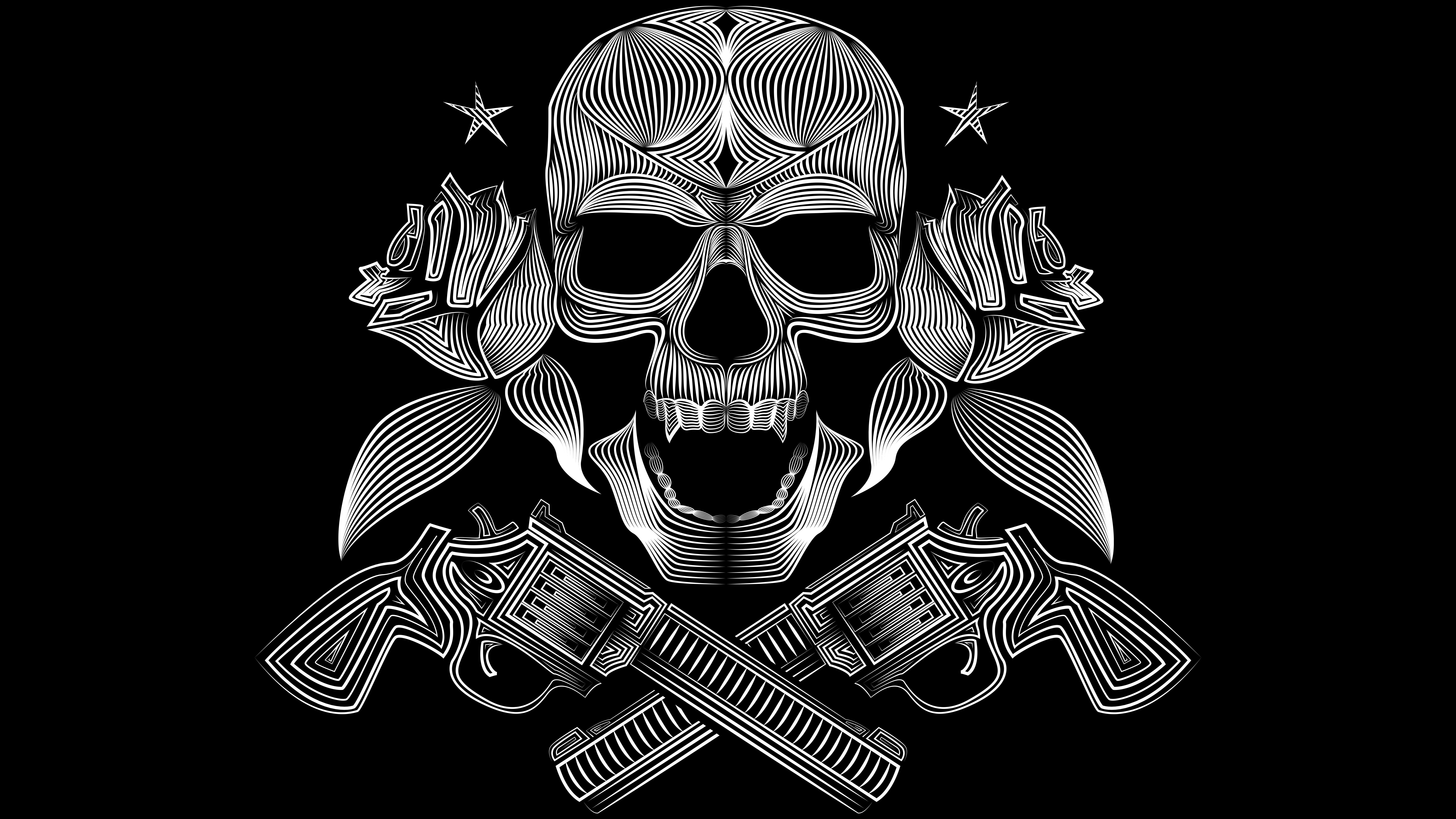 Wallpaper Gangster Skull