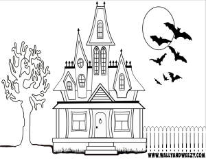 haunted_house_coloring_page