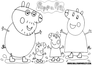 Peppa Pig Coloring Pages | Peppa pig coloring pages, Peppa pig ... | 214x300