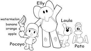 Pocoyo Drawing/Coloring Video and Downloadable Coloring Page