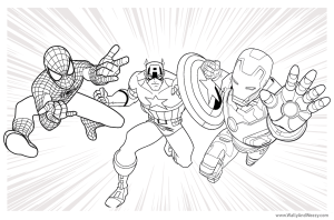 Marvel Comics Coloring Page