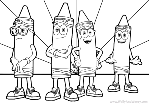 Crayola Crayon Characters Coloring Page And Video