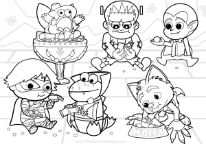 Ryan S Toysreview Coloring Pages Featuring Ryan S World Coloring Page