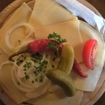 Käsebrot auf der Vilser Alpe