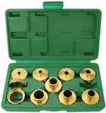 Woodtek 164258, Portable Power Tool Accessories, Routers & Trimmers, 10-Pcs Router Template Guide Bushing Set