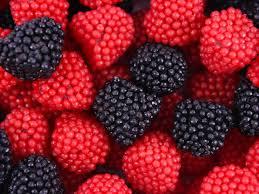 Red and black raspberries