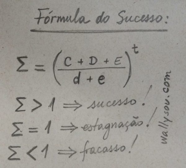 nova formula do sucesso