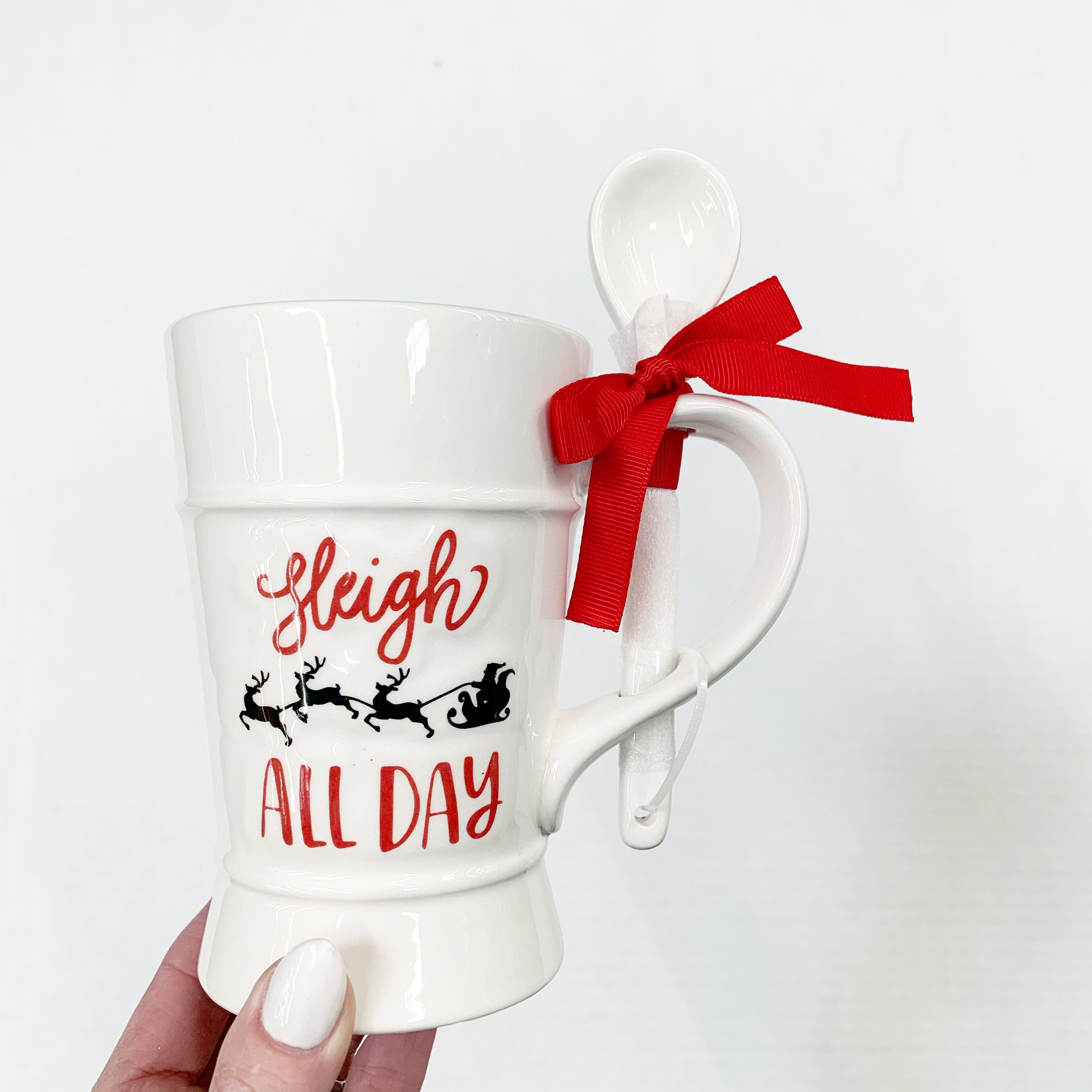sleigh all day mug with spoon