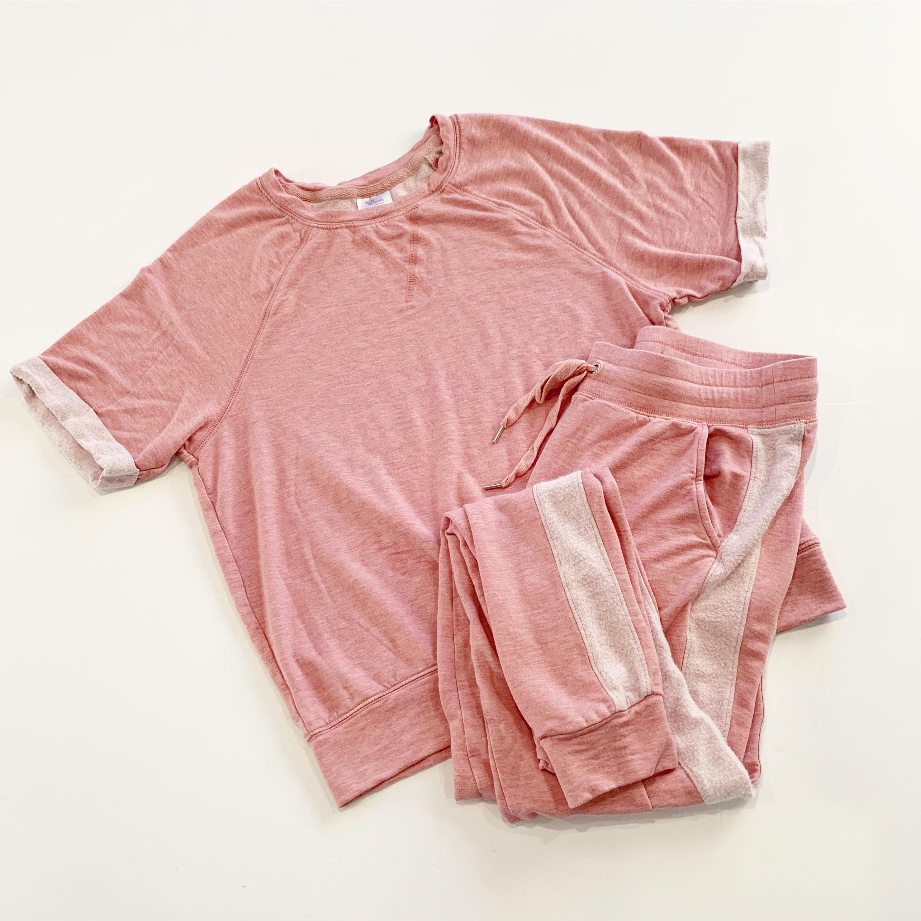 secret treasures blush jogger sleep set