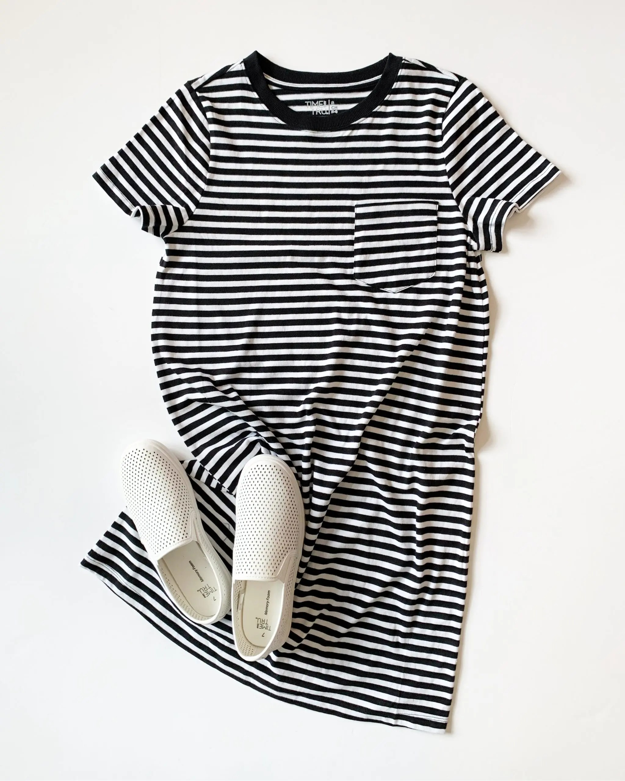 time and tru t-shirt dress
