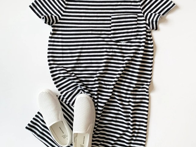 Time and Tru T-Shirt Dress and Slip-On Shoes