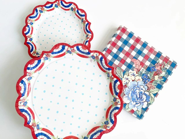 The Pioneer Woman Red, White, and Blue Patriotic Plates and Napkins