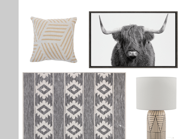 Kate and Laurel Highland Cow Framed Canvas Print + More