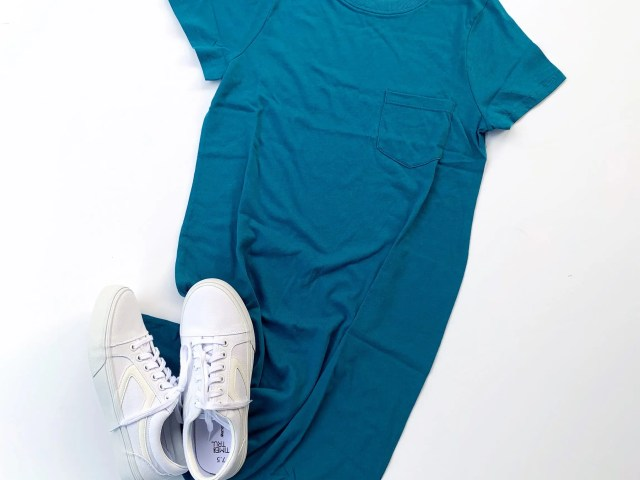 Time and Tru T-Shirt Dress and Retro Sneakers