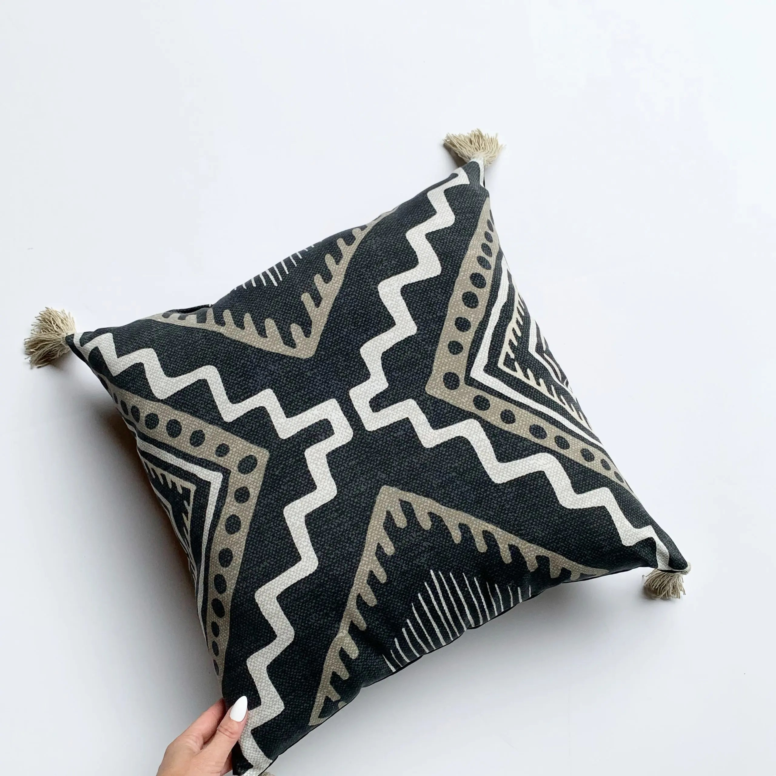 better homes and gardens outdoor tribal toss pillow - boho pillow