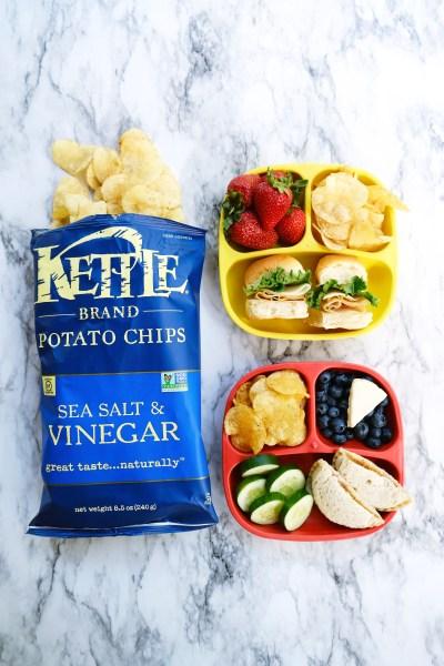 kettle brand sea salt and vinegar potato chips - kids lunch ideas