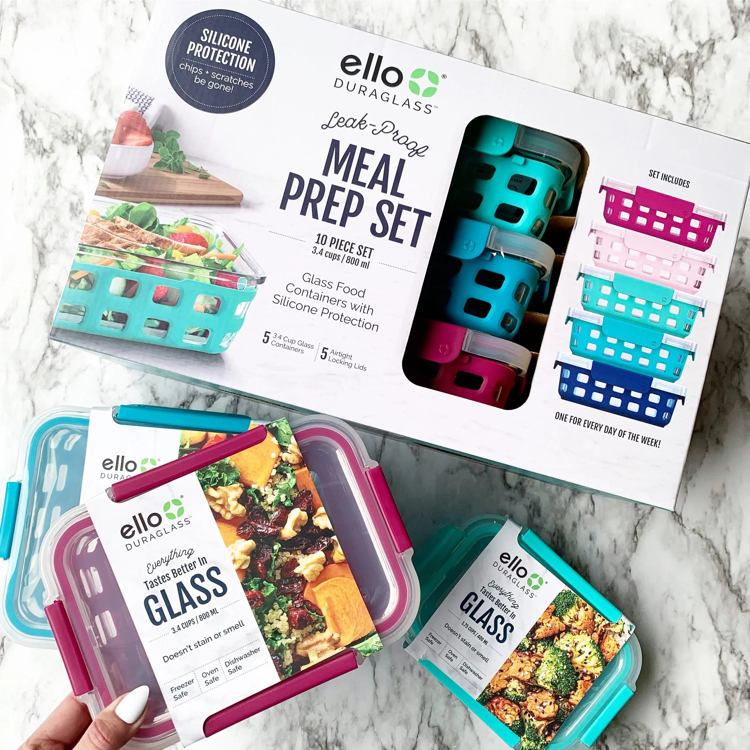 Ello Meal Prep Glass Storage Containers and Bakeware