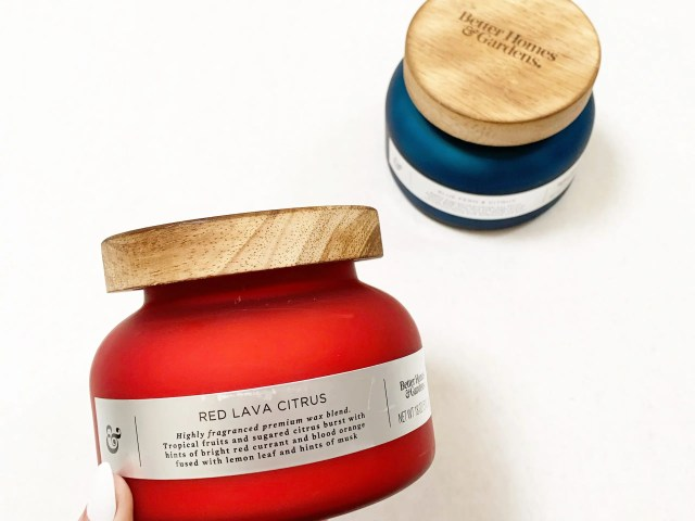 Better Homes & Gardens Red Lava Citrus Candle