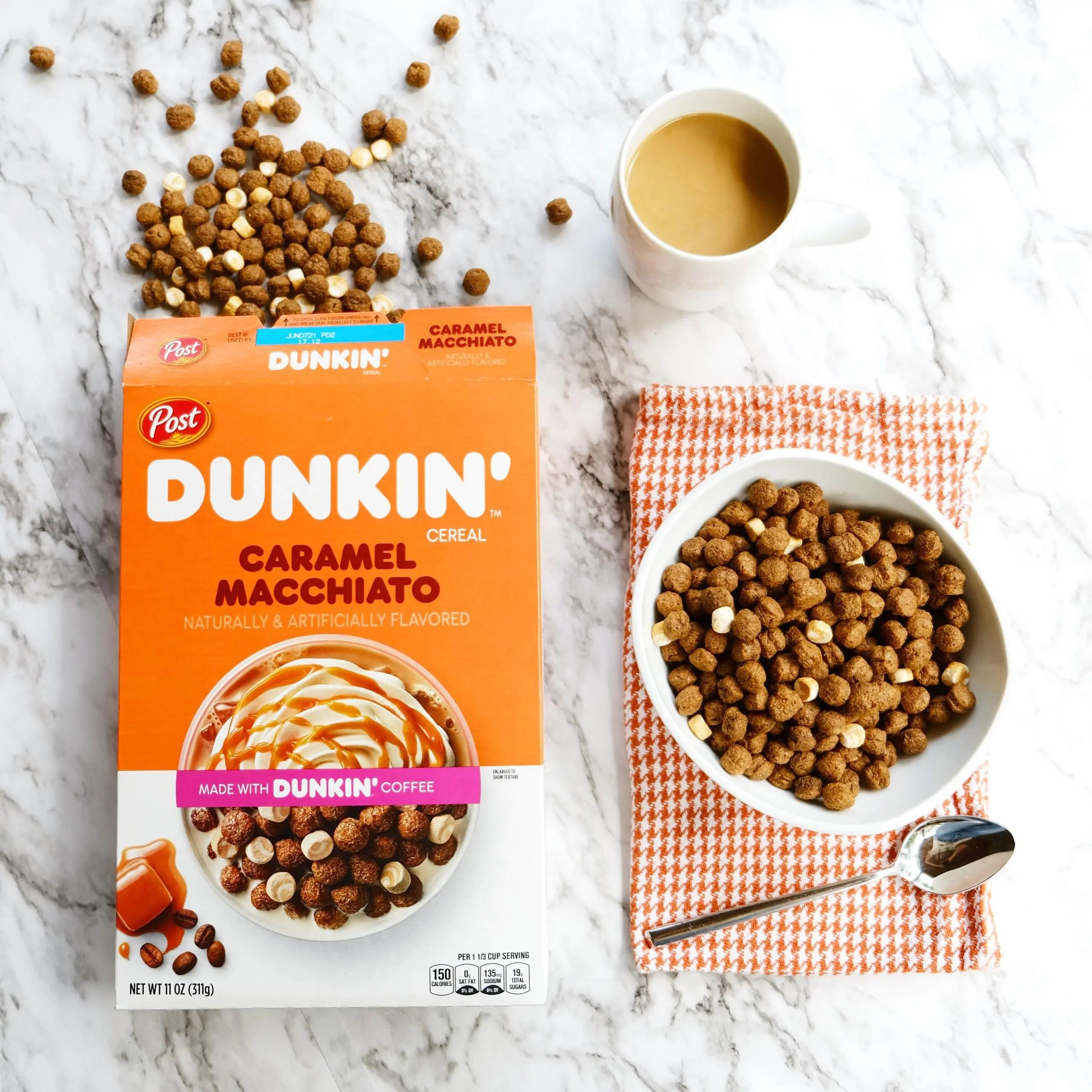 post dunkin caramel macchiato cereal