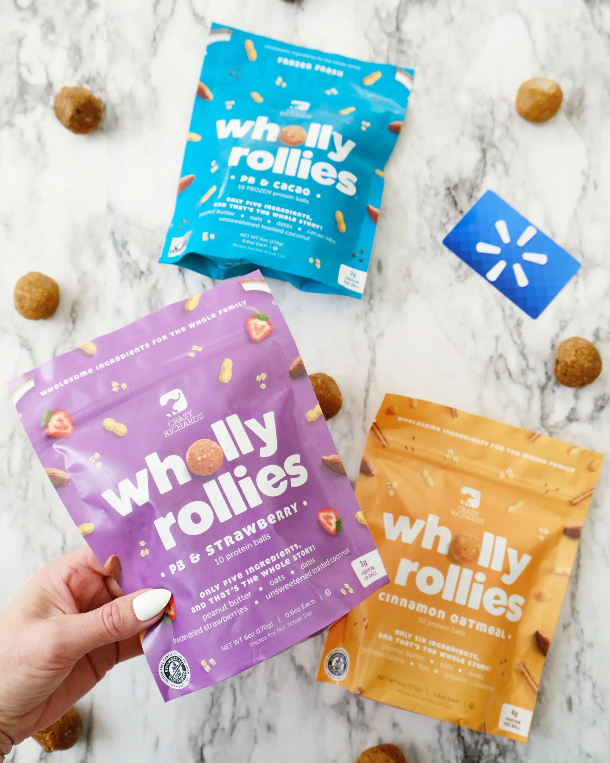 wholly rollies frozen peanut butter protein balls at walmart