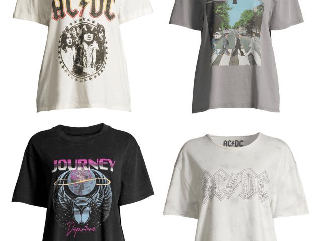 Scoop Boyfriend Graphic T-Shirts