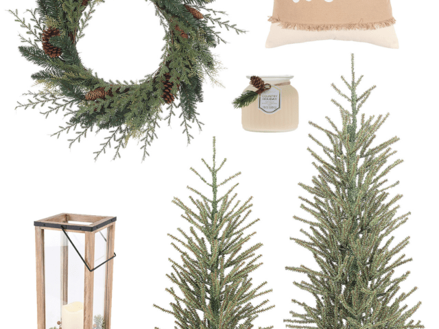 Neutral Country Christmas Decor