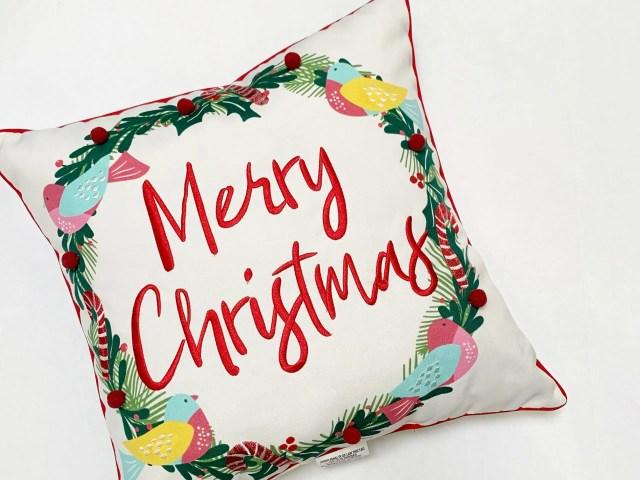 Better Homes & Gardens Merry Christmas Wreath Pillow
